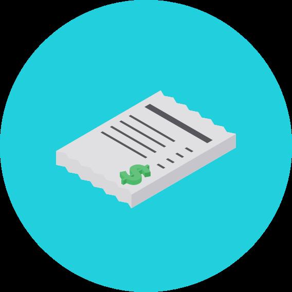 pad of receipt icon