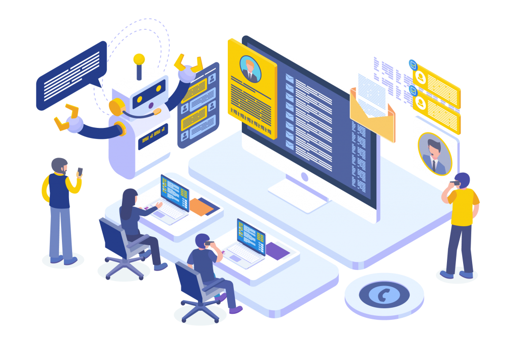 Isometric graphics for customer service