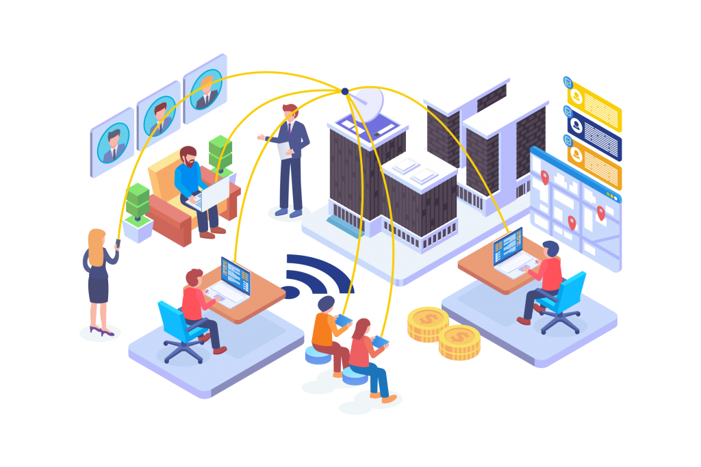 Outsourcing Process Illustration